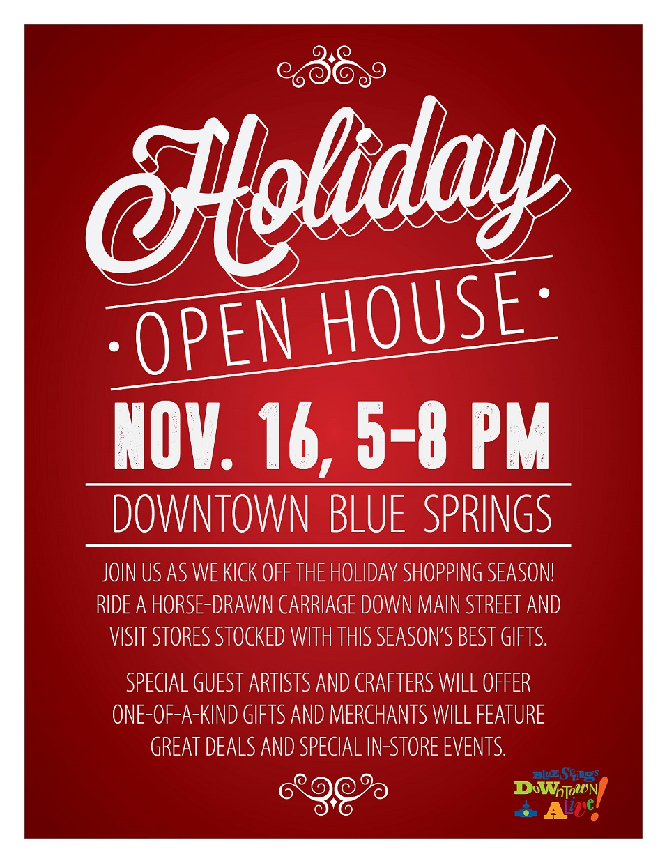 Holiday Open House Large Flyer